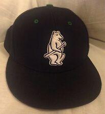 d9e4c177092 Chicago Cubs 1914 Navy Blue w White Bear Holding Bat Snapback Baseball Hat  Cap