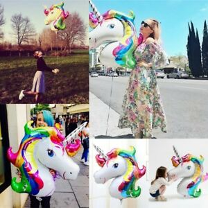 Unicorn-Large-Rainbow-Balloons-Foil-Helium-Balloon-Children-Birthday-Party-Decor