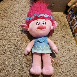 "Poppy Pink Troll Plush 22"" Dreamworks Trolls Movie Doll Stuffed Toy 2016"