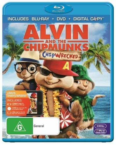 1 of 1 - Alvin And The Chipmunks - Chipwrecked (Blu-ray, 2012, 2-Disc Set)