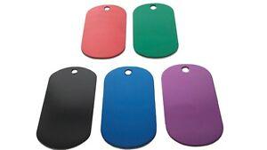 Fashion-Dog-Tag-Engravable-Blanks-Anodized-Aluminum-Black-Red-Blue-Purple-Green
