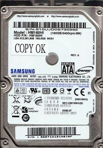 "Samsung HM160HI 160GB 5400RPM 2.5/"" SATA HDD 160 GB Hard Drive TESTED FREE SHIP!"