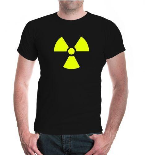 Hommes unisexe manches courtes T-shirt radioactif v1 centrale nucléaire