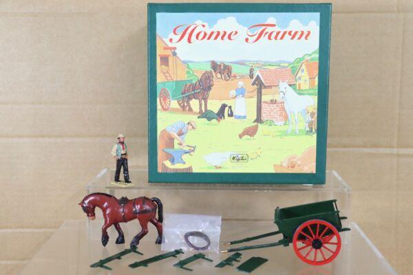Britains 8707 Casa Fattoria Tumbrel Cart & Cavallo Set Menta In Scatola Nt Imballaggio Di Marca Nominata
