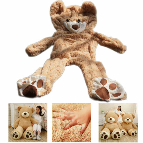 63/'/' Giant Big Teddy Bear Plush Soft Toy Doll Shell Cover Zipper No Cotton Gifts
