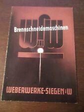 Historische Reklame Brennschneidemaschinen WSW Werbewerbe-Siegen in Westfalen