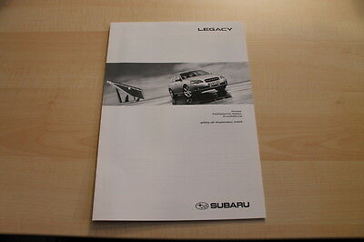 82864) Subaru Legacy - Preise & Technische Daten & Ausstattungen - Prospekt 09/2