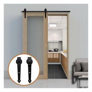 1-2-6m-Rails-Sliding-Barn-Wood-Door-Hardware-Track-Hangers-Kit-for-Interior-Door