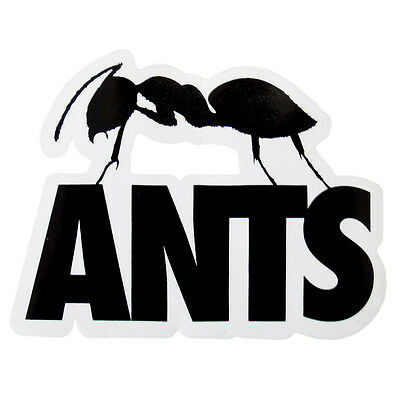 OFFICIAL Ants Ushuaia Ibiza Club Sticker Large Black Logo Dance Music colony