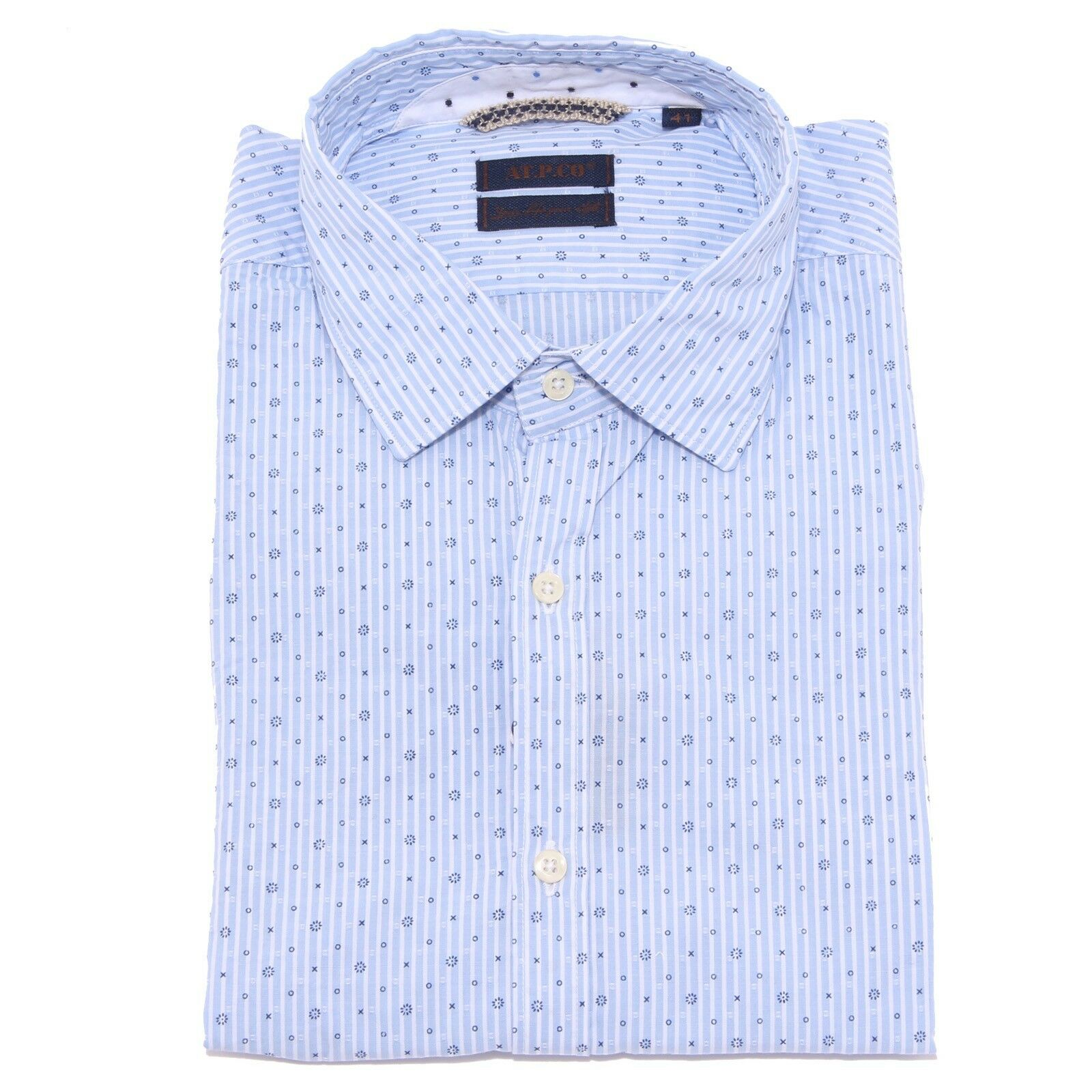 3140X camicia uomo AT.P.CO shirt Uomo blu cotton