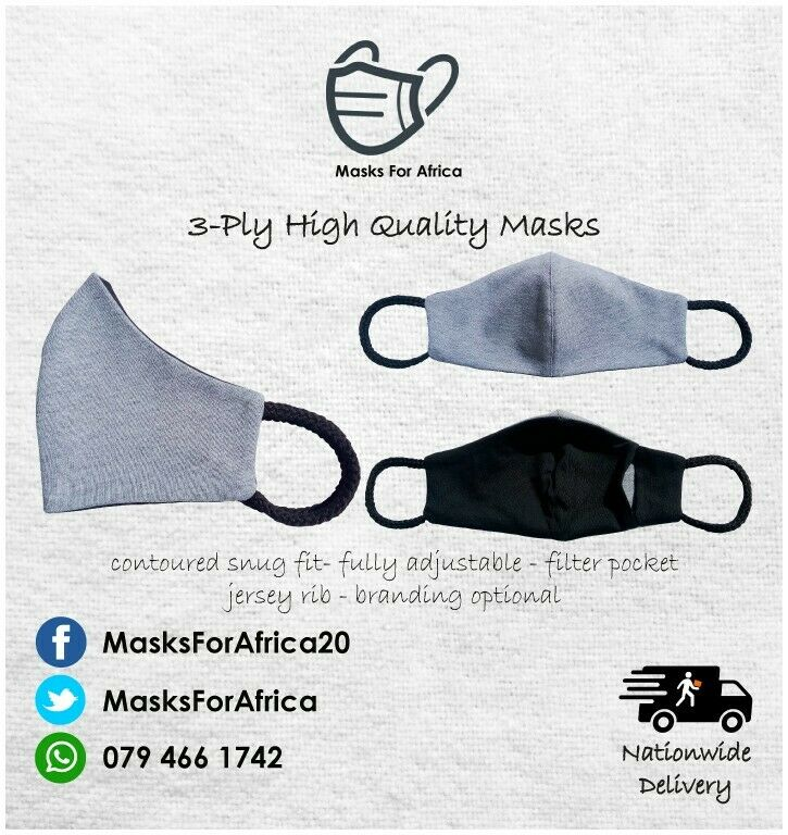 3-PLY High Quality Protective Cloth Masks