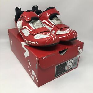 Specialized-S-WORKS-TRIVENT-Triathlon-Tri-Shoes-EU-43-US-9-6-Red-BOA-MSRP-400