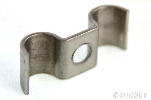 5 Stück Rohrklemme Edelstahl 10mm Doppelklemme Rohrhalterung doppelt Klemme Rohr