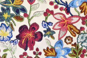 Kunstleder-Lederimitat-bedruckt-Hemmers-Itex-Blumen-Blueten-weiss-bunt-Rest