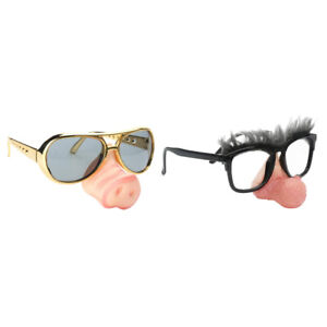 Novelty Silver Glitter Glasses Fancy Dress Party Costume Accessories Sunglasses