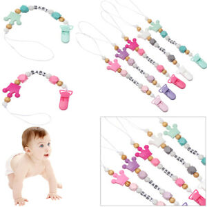 Cute Toys Chew Non-toxic Pacifier Chain Baby Teething Soother Dummy Clips