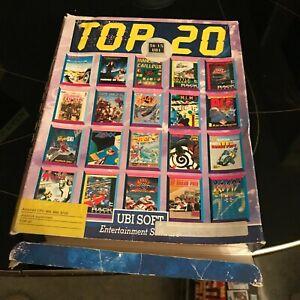 Ubi Soft Top 20 jeu Amstrad cpc 6128 464 disk non testé + boite