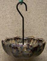 Bird Feeder Ceramic Umbrella Grey Hanging