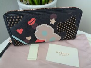 Purse Matinee Bnwt Black Summer Zip Radley Around Street Large Leather rYWzOrq
