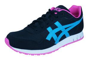 Asics-Curreo-Lacets-Synthetique-Noir-Baskets-Chaussures-De-Course-UK-5-12