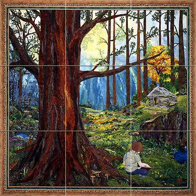 Art Forest Landscape Mural Ceramic Backsplash Bath Tile #2412