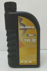genuine holden acdelco dexos 2 5w30 synthetic oil 1lt. Black Bedroom Furniture Sets. Home Design Ideas