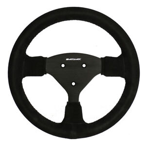 Motamec-Formula-Race-Steering-Wheel-Small-Flat-270mm-Black-Suede-Black-Spoke