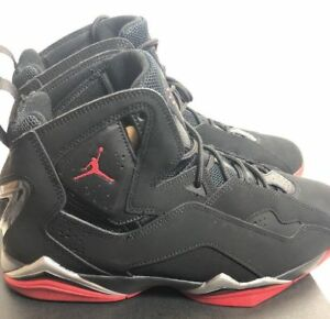 the best attitude ac32d e9398 Image is loading Nike-Air-Jordan-True-Flight-Black-Gym-Red-