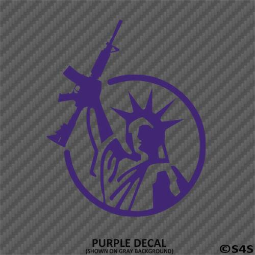 Statue of Liberty AR 15 2nd Amendment Vinyl Decal Sticker Choose Color//Size
