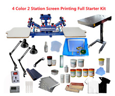4 Color 2 Station Screen Printing Full Starter Kit For 4 Colors T Shirt Printing