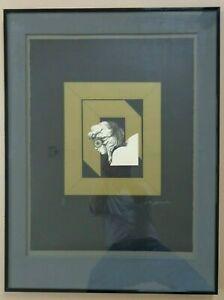 ALAIN LE YAOUANC (°1940) / FIGURATIE / KLEURLITHO / 85x64cm / KADER / SIG