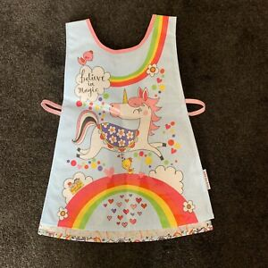 RACHEL-ELLEN-UNICORNS-AND-RAINBOWS-CHILDS-APRON-TABARD-PAINTING-COOKING