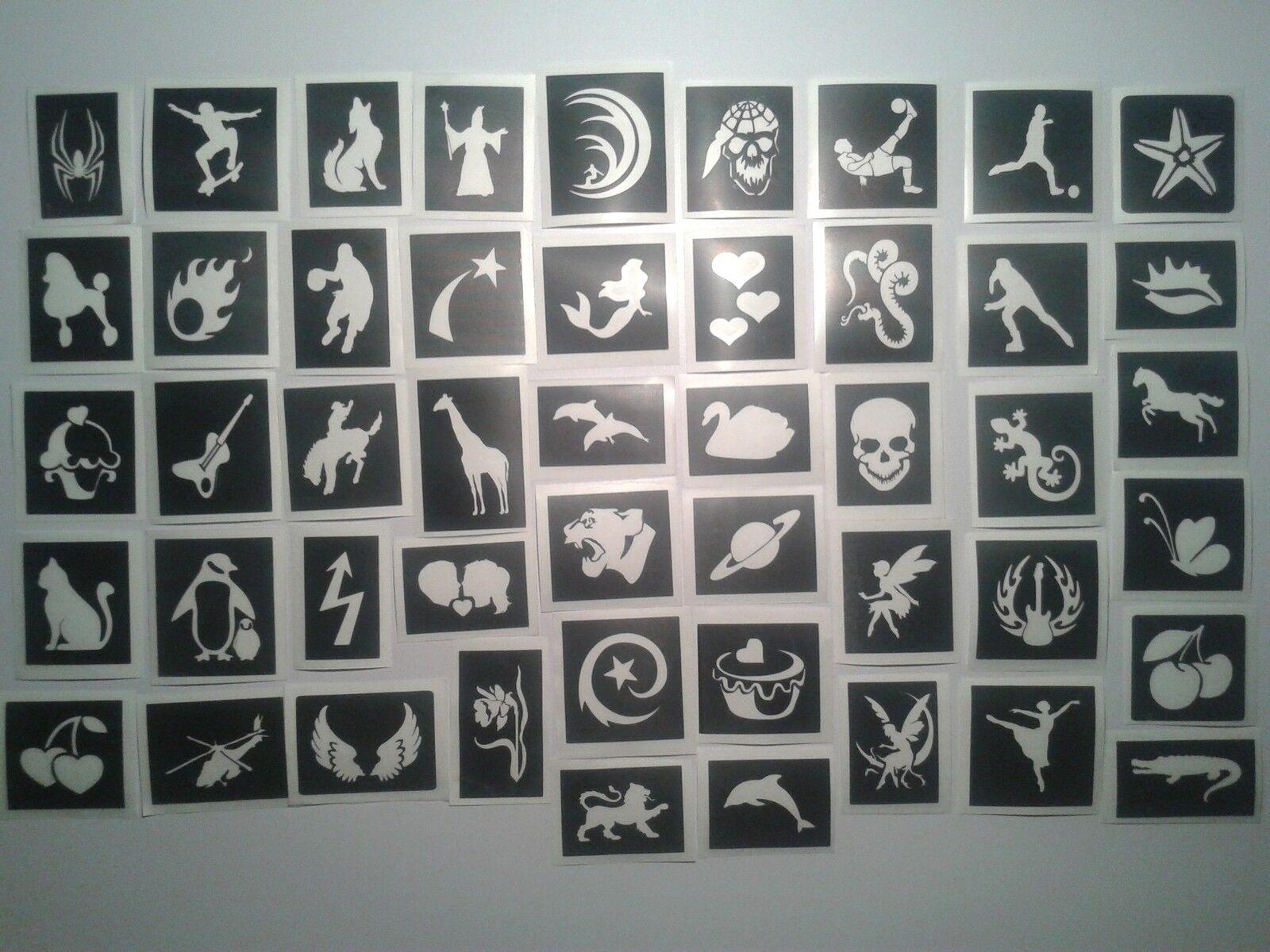 10-400 stencil per scintillio tatuaggi girls & boys misti