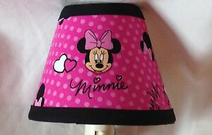Disney Minnie Mouse Pink Fabric Night Light
