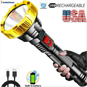 20000LM LED Flashlight Rechargeable Tactical Torch 3Modes Torch Lantern US
