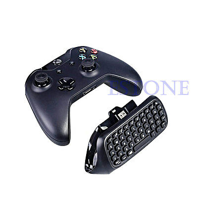 Black Mini USB Wireless Chatpad Message Keyboard for Xbox One Controller 2.4G