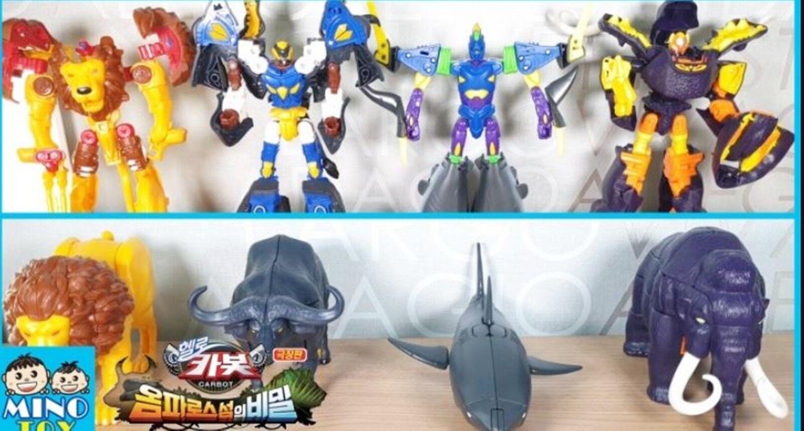 Hello Carbot Movie MIMOTH+FALO+A-SHARK+KLION Transformer Robot Toy Full Full Full Set 2019 14ea44