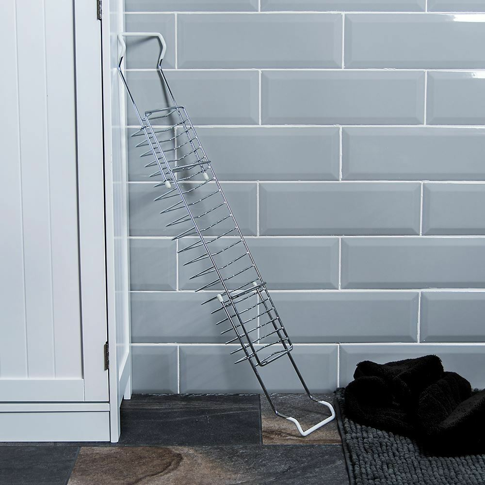 Bath Tub Rack Extendable Chrome Shower Shelf Tray Caddy Storage by ...