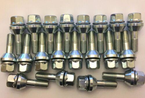 M12X1.5 x 20 40mm Filo-traballante PCD Correzione bulloni cerchi in lega BMW 72.6
