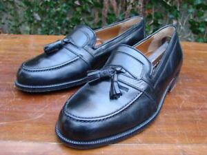 Bruno-Magli-Loafers-7-Wide-Made-In-Italy-Black-Kiltie-Tasseled