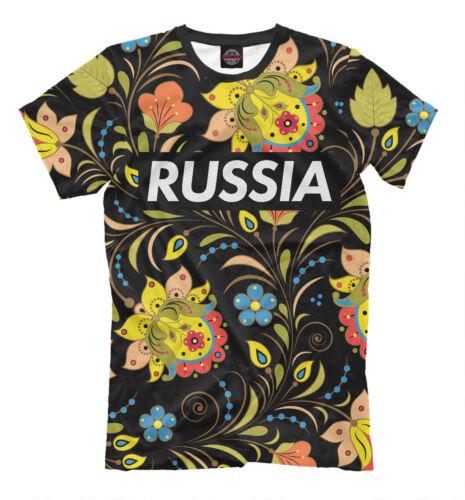 RUSSE T-shirt noir-Supreme style image Tee Khokhloma Hohloma