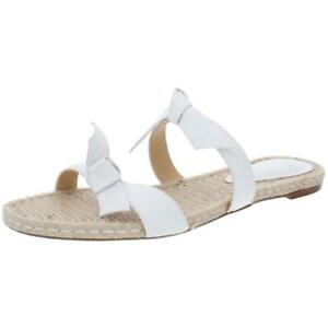 Alexandre Birman Womens Clarita White Slide Sandals 39.5 Medium (B,M) BHFO 6587