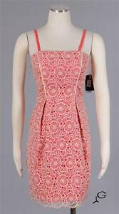 14facbbf619 JESSICA SIMPSON Blush Sz 10 Women s Cocktail Lace Over Sheath Dress ...