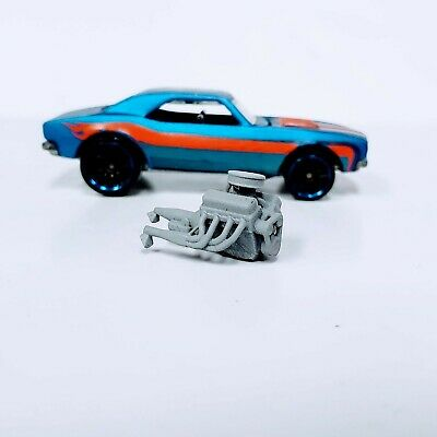 V8 WITH PAN CAKE AIR CLEANER  1:64 scale engine 3D printed resin for Hot Wheels