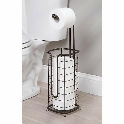 Bronze Free Standing Toilet Paper Holder New Metal 4 Roll Stand Bathroom Decor Ebay
