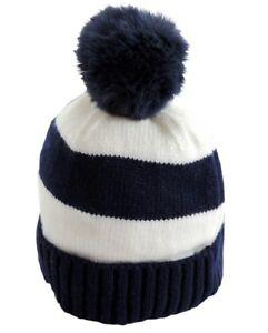 Cappello-Neonato-Invernale-con-Pon-Pon-0-12-mesi-berretto-inverno-Blu