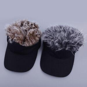 ab9badbd909 Unisex Toupee Wig Sun Visor Hair Cap With Fake Hair Wig Sports ...
