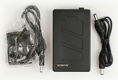 DC 12V / 5V 5800mAh Rechargeable Li-ion Li-po Battery CCTV CAMERA USB CELL PHONE