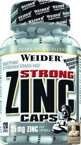 Bon CœUr Weider Strong Zinc Caps Boîte 120 Gélules (17,13 Eur/100 G)-afficher Le Titre D'origine