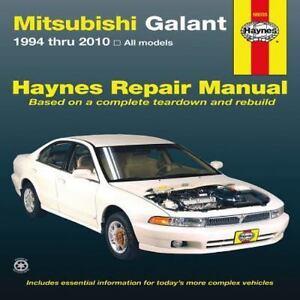 haynes repair manual mitsubishi galant 1994 thru 2010 by john rh ebay com 2000 Mitsubishi Galant Repair Manual 2002 Mitsubishi Galant Owner's Manual